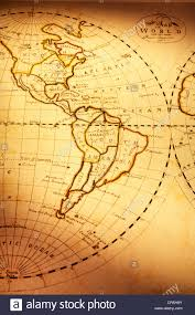 World Map South America by Part Of Old World Map Showing Americas Focus Is On South America