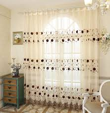 Embroidered Sheer Curtains Embroidery Sheer Curtains Window Curtains