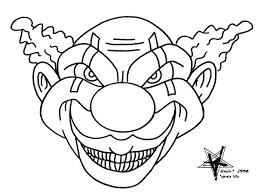 coloring pages of scary clowns scary clown pictures to color free coloring pages on art