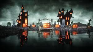 Halloween Pumpkin In A Spooky Graveyard Hallowenn Concept