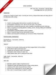 sample resume caregiver unforgettable caregiver resume examples