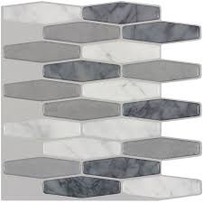shop peel u0026stick mosaics marmol elongated mosaic composite wall