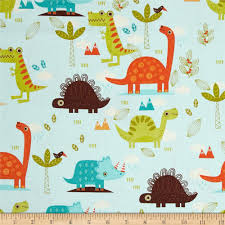 riley blake home decor dinosaur blue discount designer fabric