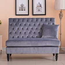 upholstered bench sofa settee tufted lounge chaise couch furniture