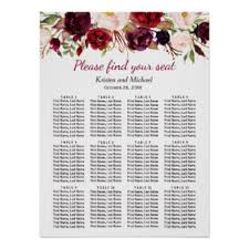 Wedding Seat Chart Template Wedding Seating Chart Posters Zazzle