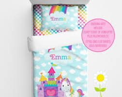 Personalized Girls Bedding by Unicorn Bedding Etsy
