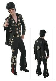 Elvis Halloween Costumes Elvis Black Jumpsuit Elvis Halloween Costumes