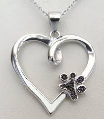 heart dog necklace images Your paw is on my heart necklace jpg