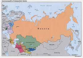 russia map russia and the former soviet republics maps perry castañeda map