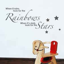 rainbows and stars wall sticker quote for sale bouf product