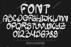 tribal style alphabet letters and numbers isolated on black