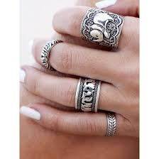 midi rings set rô bohemian aagues set of 4 midi rings trendnchic fashion jewelry