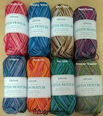 sirdar cotton prints dk wool yarn 100g balls 8 colours 100