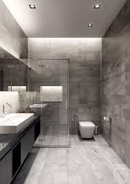 apartement mesmerizing grey modern bathroom ideas small