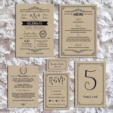 wedding invitations sets printable black diy wedding invitation set rustic diy weddings