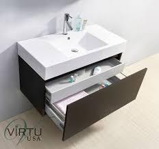abodo 39 inch wall mounted wenge bathroom vanity
