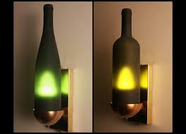 Wine Bottle Light Fixtures Kevin Sutton Recycling Wine Bottles To Create Beautiful Light