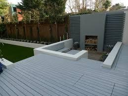 Wall Garden Ideas by Sloping Garden Design Garden Decking Ideas Zamp Co