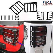 jeep wrangler light covers steel metal black rear light guards covers for 07 16 jeep