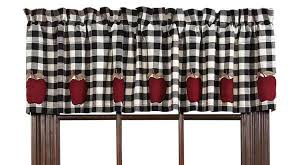 Black And White Checkered Curtains Black And White Gingham Checkered Plaid Kitchen Tier Curtain