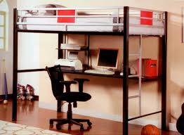 Study Bunk Bed Frame With Futon Chair And Desk Combination Hostgarcia Bunk With Workstation Loft Combo