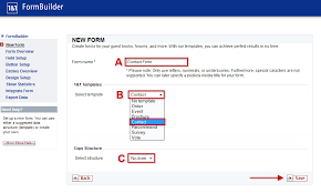 create a new form using the formbuilder application 1 u00261 help center