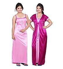 bailey women u0027s satin night dress pack of 2 amazon in clothing
