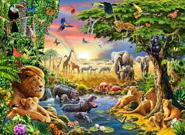 childrens wallpaper wall murals wallsauce waterhole wallpaper mural