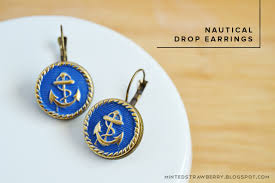 diy drop earrings diy nautical drop earrings minted strawberry