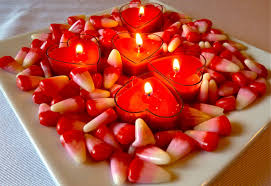 decorations red love candle with handmade paraffin craft for