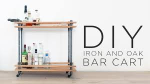 diy bar cart how to make a drink cart with iron pipes youtube