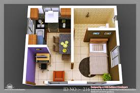 beauty 3d isometric views of small house plans kerala home design