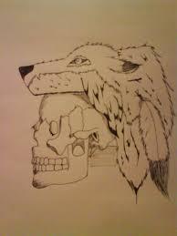skull with wolf headdress by xxgreenballoonxx on deviantart