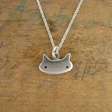 cat necklace silver images Sterling silver little cat necklace jpg