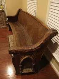 Church Pew Style Bench Isn U0027t This Vintage Church Pew Beautiful The Hard Carved Details
