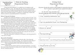 Paragraph Writing Worksheets Writing Tricks