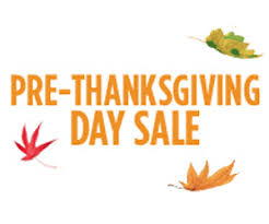 pre thanksgiving day sale launched