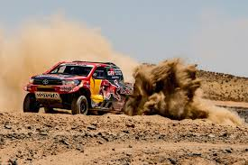 land rover dakar 3 sa built toyota hilux race vehicles among top 10 in dakar rally