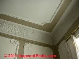 our photo left shows ornate plaster wall cornice and ceiling