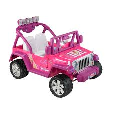 jeep rubicon 2017 pink power wheels barbie deluxe jeep wrangler 12 volt battery powered
