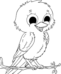 pictures child cute birds coloring for kids coloring pictures