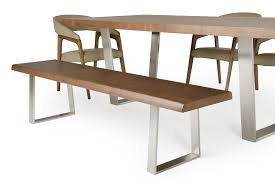 Stainless Steel Dining Room Tables by Byron Mid Century Walnut Dining Bench