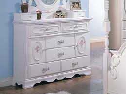 Bedroom Furniture For Little Girls by Girls White Dresser Drop Camp