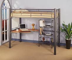corliving madison twin loft bed with desk and storage multiple for