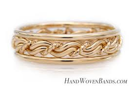 gold wedding rings woven gold wedding rings unique braided gold wedding bands