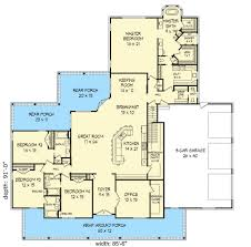 split bedroom plan 68426vr graceful southern house plan southern house plans