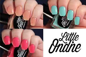 little ondine water based polish with peel off removal youtube