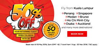 airasia singapore promo book flights on airasia airasia x and enjoy up to 50 percent off