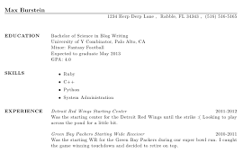 How To Use Resume Template In Word Creating A Resume Using Latex Max Burstein U0027s Blog