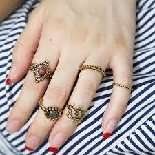 hand finger rings images Vintage punk moon ring ethnic hand make antique gold boho midi jpg